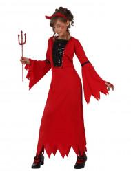 Costume da diavolo lungo per bambina
