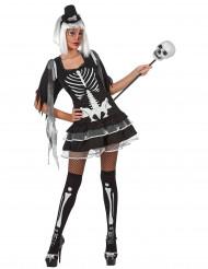 Costume da scheletro sexy per donna