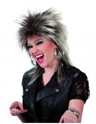 Parrucca punk da donna castano-bionda