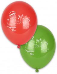10 Palloncini Babbo Natale