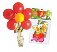 Kit palloncini a forma di fiore