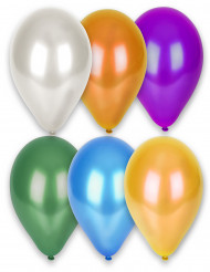 12 palloncini multicolor metallizzati