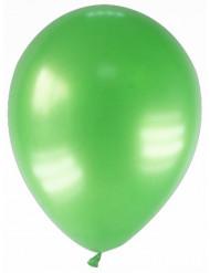 12 palloncini da 28 cm verdi metallizzati