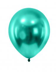 12 palloncini verde scuro metallizzato in gomma