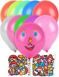 10 palloncini personalizzabili con stickers