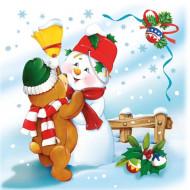 20 tovaglioli con decorazioni di Natale