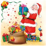 20 tovaglioli di carta con Babbo Natale