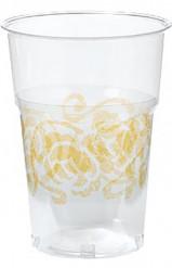 Bicchieri trasparenti con decorazioni dorate