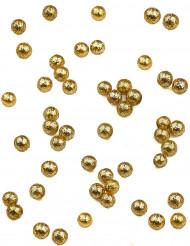 Palline dorate ricoperte di paillettes