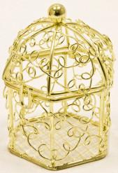 Mini gabbia per uccelli dorata