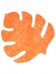 4 Tovagliette arancioni a foglia
