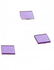 20 specchietti quadrati color prugna