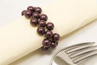 2 portatovaglioli con perle marroni