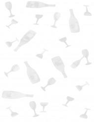 10 g di coriandoli da tavola bianchi