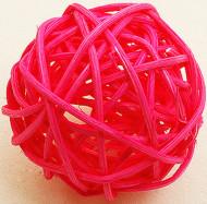 6 sfere in vimini fucsia diametro 3.5 cm