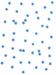 48 mini stelline color turchese 1 x 1 cm