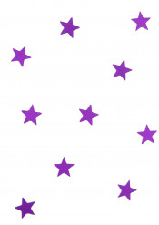 10 mini specchi stelle viola