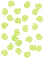 Coriandoli da tavola a forma di spirale verde menta