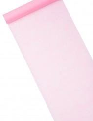 Runner in tessuto non tessuto a tinta unita rosa