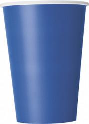 10 bicchieri blu in cartone