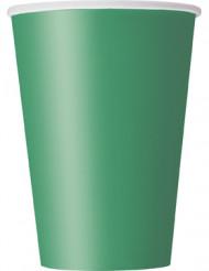 10 bicchieri verde smeraldo in cartone