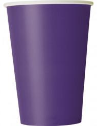 10 bicchieri viola di cartone