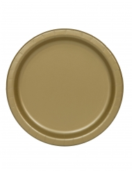 16 piatti di carta dorati da 22 cm