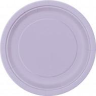 16 Grandi piatti di carta color lavanda