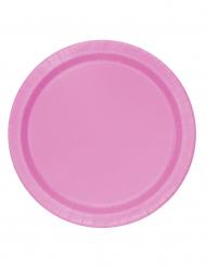 16 piatti grandi di carta rosa