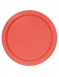 16 Grandi piatti rossi di carta
