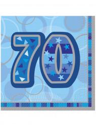 16 tovaglioli blu 70 anni