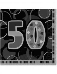 16 tovaglioli di carta quadrati per i 50 anni