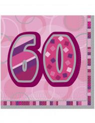 Pacco da 16 tovaglioli per festa dei 60 anni