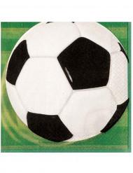 16 tovaglioli in carta a tema calcio