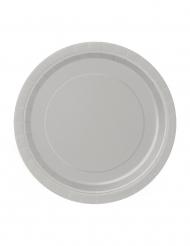 20 piatti di cartone di color argento