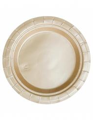 20 piattini dorati di cartone