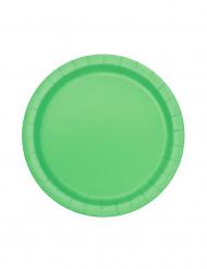 20 piattini di cartone di colore verde