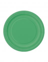 20 piatti di carta di color verde smeraldo