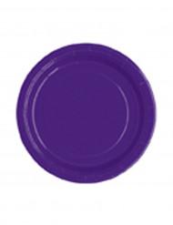 20 piatti di carta viola