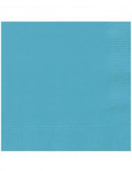 20 tovaglioli di carta blu caraibico