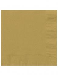 20 tovaglioli di carta dorati