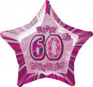 Palloncino rosa stella 60 anni