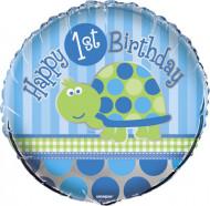 Palloncino primo compleanno blu