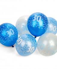 Palloncini di colore blu per 30 anni