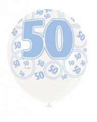 Palloncini blu per 50 anni