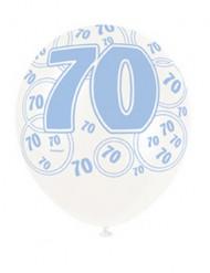 Palloncini blu con numero 70