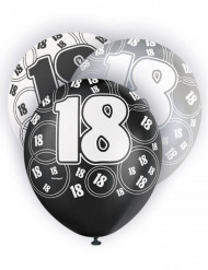 Confezione palloncini con numero 18