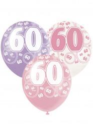 Palloncini 60 anni di colore rosa