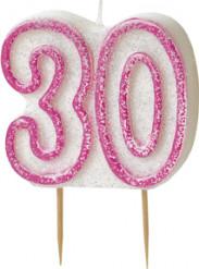 Candelina 30 anni rosa