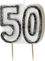 Candelina 50 anni grigia